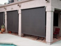 Patio Roll-Up Shades - Arizona Sun Screen