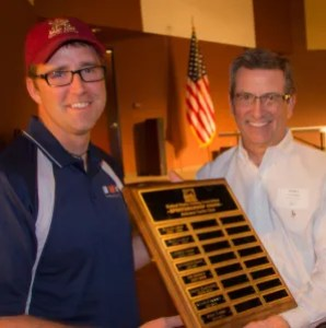 The US Sailing Sportsmanship award, AYC's MVP award, went to Rob Gibbs (left).