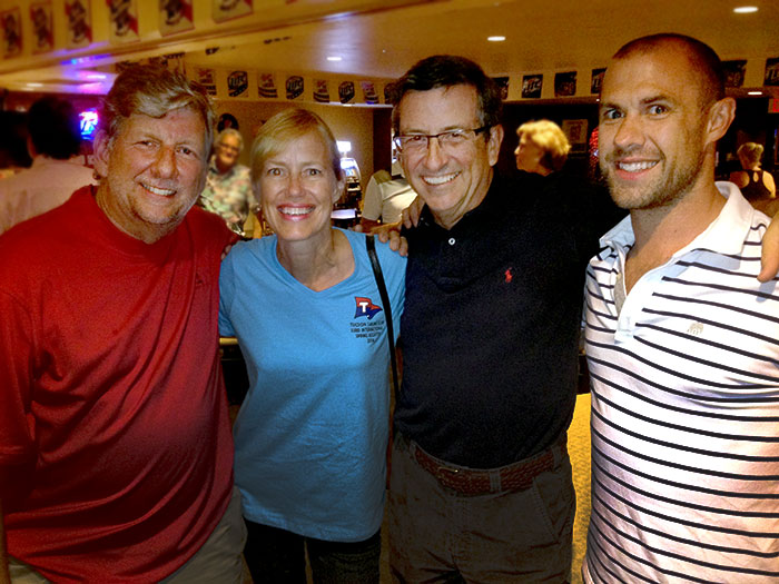 Marshall Williamson and Deana Pos of Tucson Sailing Club, with AYC's Mike Ferring, and (new member) Ryan Hanks.