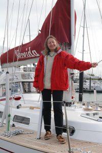 Jeannie aboard Nereida.