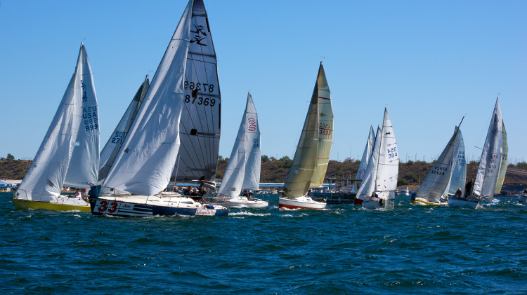 "The start of the ""Triple Crown"" monohull race. Photo: Michele Korszeniewski"