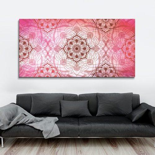 Tableau oriental abstrait floral