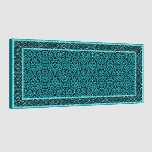 Tableau oriental tapis-turquoise