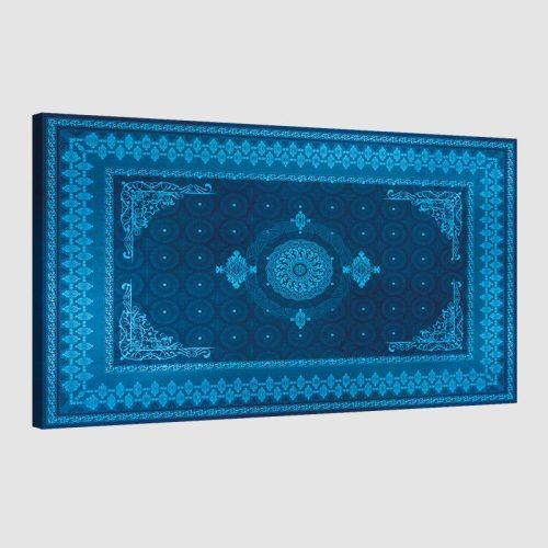 Tableau oriental tapis motif bleu
