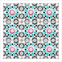 poster-oriental-mosaique-coloree-turquoise