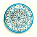 Poster oriental-assiette unitaire-turquoise