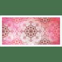 Tableau oriental-abstrait floral-rouge