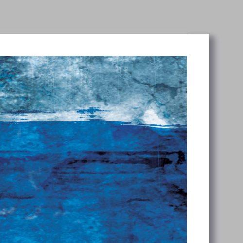 Poster oriental Abstrait noir et bleu