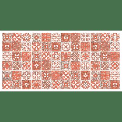 Poster oriental-mosaïque camaïeu-orange