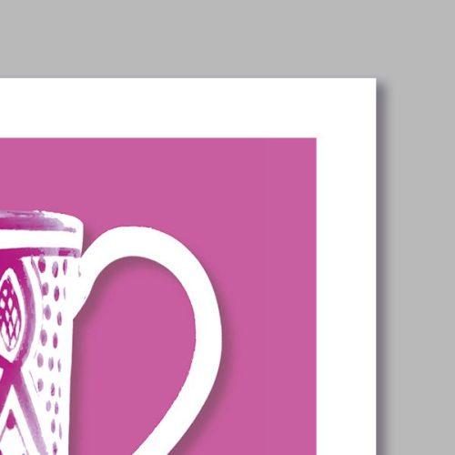 Poster oriental mug colonne