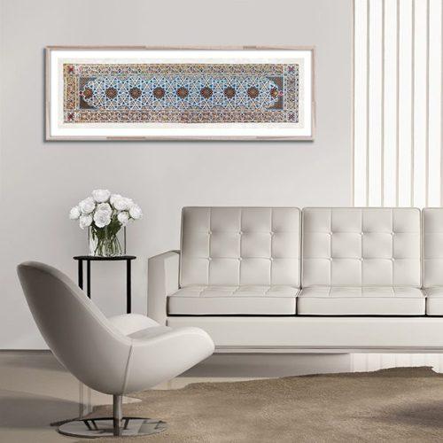 Poster oriental ornement géométrique