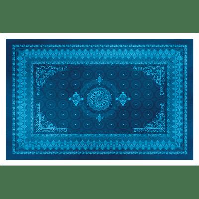 Poster oriental-tapis motif bleu