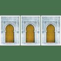 Poster arabe-porte triptyque-jaune