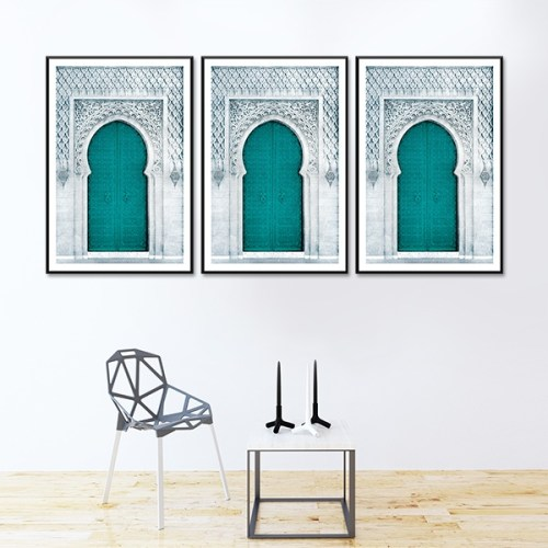 Poster arabe-porte triptyque