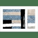 Poster oriental-abstrait calligraphie-bleu