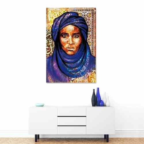 Tableau arabe-portrait bédouin