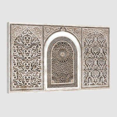 Tableau oriental arabesque-beige