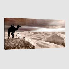 Tableau oriental désert-marron