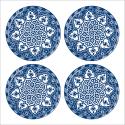 Tableau oriental-Assiette moderne-bleu