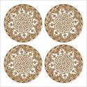 Tableau oriental-Assiette moderne-marron