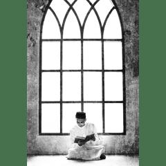 Tableau islam musulman mosquée-noir et blanc
