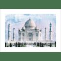 Poster oriental-Taj Mahal-couleur