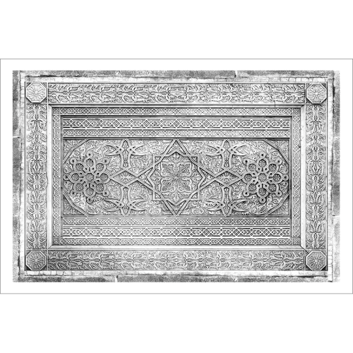 poster-oriental-decor-arabe-noir et blanc