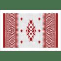 Tableau oriental-motif berbère-rouge