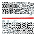 Poster arabe-abstrait mosaique-rouge