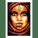 Poster oriental-femme-berbère-rouge