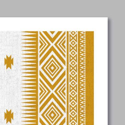 Poster oriental motif berbere-détail