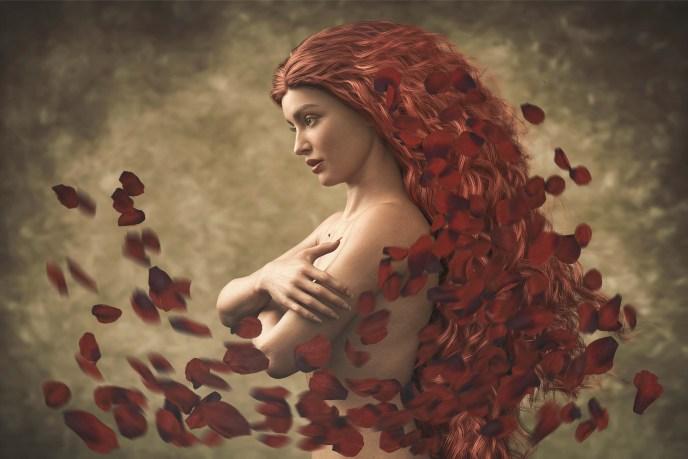 Hair of Roses Photoshop uitleg en bestanden.