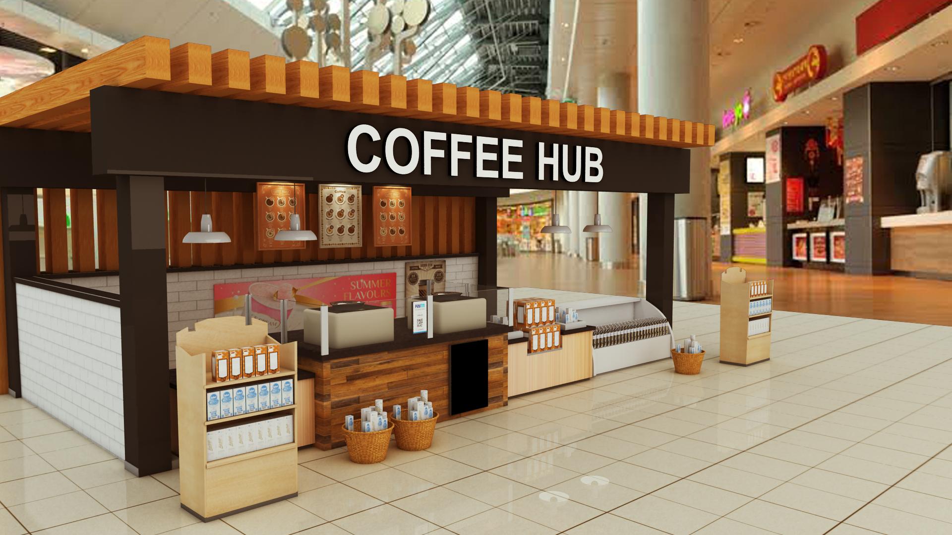 Coffee Hub Exterior Design