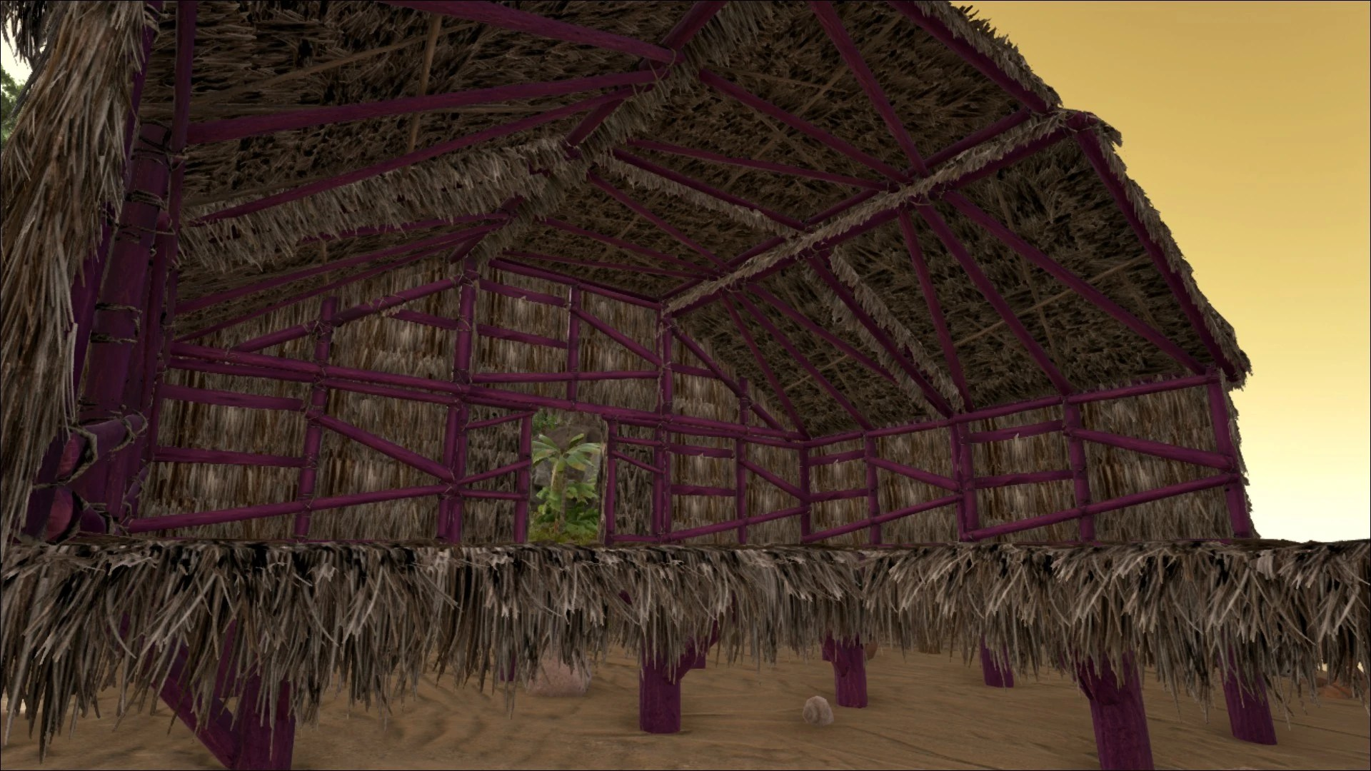 Sloped Thatch Wall Left  Official ARK Survival Evolved Wiki