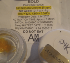Amco Review: 24k gold mimosa cookie suger