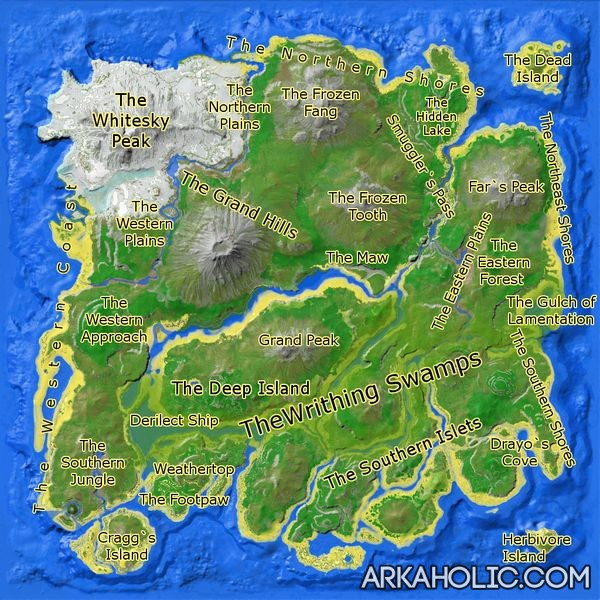 The Island Ark Cave Map