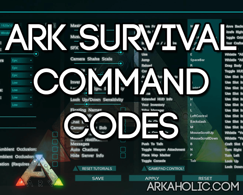 ARK Survival Evolved Command Codes Amp Cheats