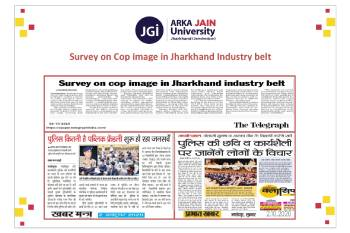 Survey on Cop image in Jharkhand Industry belt355x233