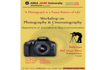 Workshop on Photography and Cinematography 350x233