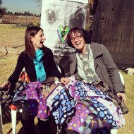 ladies from caxton woman and home magazine blanket donation to ark animal centre