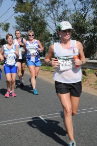 Gloria running the Comrades in 2013