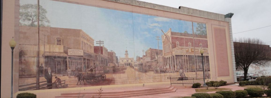 Pine Bluff Mural of city's historical downtown