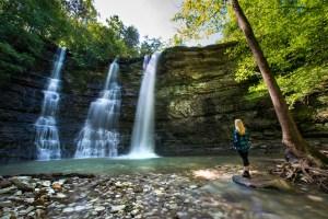 Waterfalls at Tripple Falls Arkansas