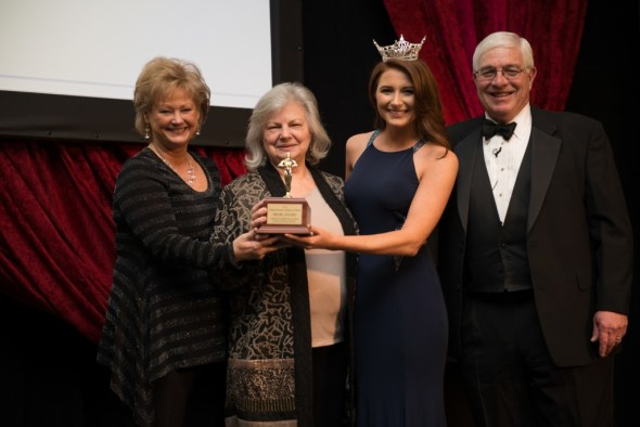 From left, Paula Miles, Dr. Ruth Hawkins, Miss Arkansas 2015, and Arkansas Parks and Tourism Director Richard Davies