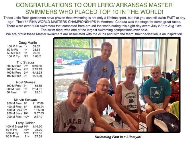 Little Rock swimmers, Aug. 2014