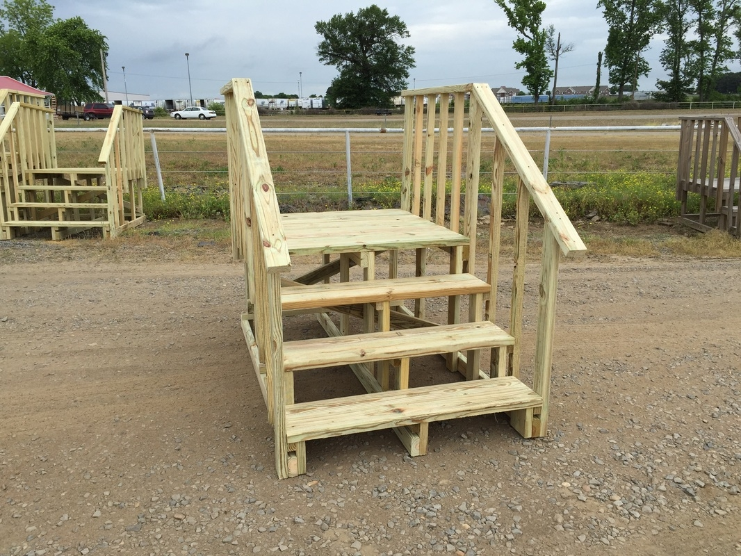 Steps And Decks Arkansas Mobile Home Supply | Wooden Stairs For Mobile Home | Pre Built | Prefabricated | Simple | Wood Camper | Patio