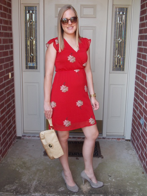 Red Old Navy Dress Front View