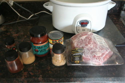 slow cooker taco ingredients