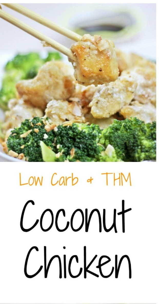 Coconut Chicken via mytableofthree.com keri bucci