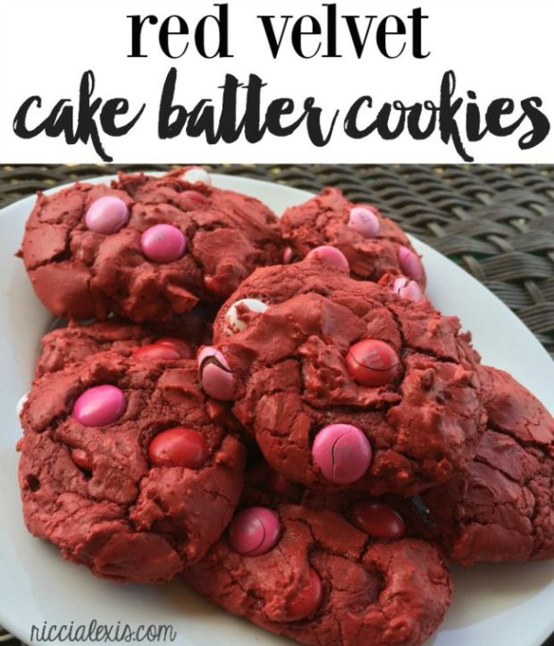 Red Velvet Cake Batter Cookies via Ricci Alexis